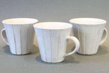 【ウェブショップ】小鯖美保子・白のマグカップ