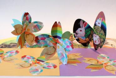 【ウェブショップ】東日本大震災6年チャリティーイベント・蝶と桜のオーナメント紙